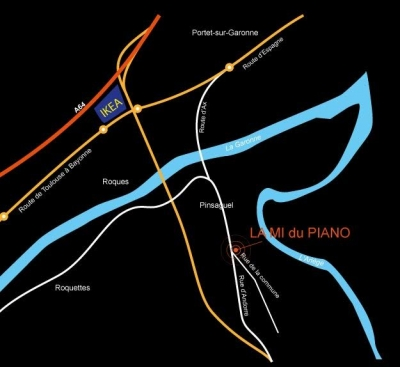 plan d acces la mi du piano magasin toulouse pinsaguel 31